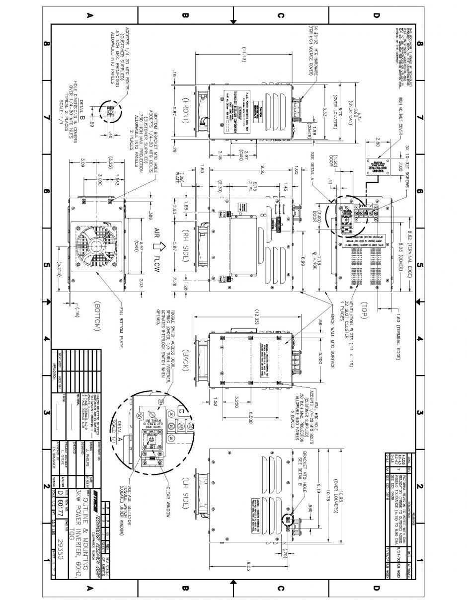 29350 3kw 60hz tqg inverter converter